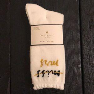 NWT Trio set Kate Spade Bridal socks